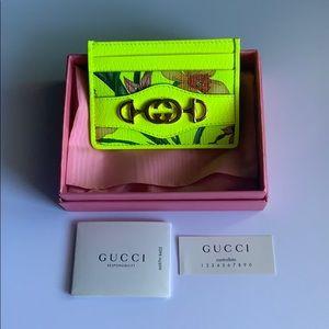 Gucci Trapuntata Flora Cardholder